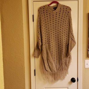 Sweater with fringe
